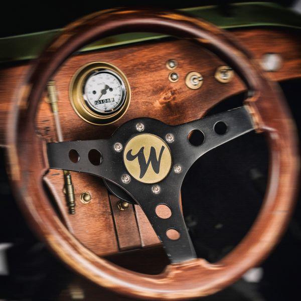 Ein edles Lenkrad eines Hot Rods aus der Wenckstern Manufaktur